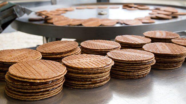 siroopwafels in stapeltjes